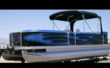 Evo Boat Blue Flame Pontoon Boat