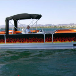 Evo Boat Ring Of Fire Pontoon Boat